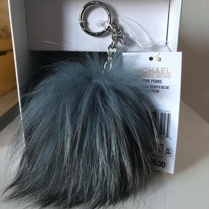 Michael Kors Fur Pompom Ornament Charm